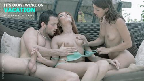 StepMomLessons.com - Bianca Resa and Julia Roca in Threesome Sex (Group sex) [SD, 480p]