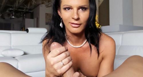 Russian babe Lina Cavalli jerks off a big dick (Pur3-TS) FullHD 1080p