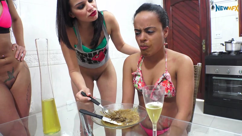 Brazil Girls - Swallow our scat lunch - Very EXTREME (SCAT / 23 June 2016) [FullHD]
