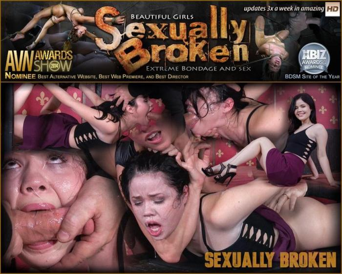 SexuallyBroken.com - Yhivi Gets Face Fucked and Vibrated to Orgasm After Orgasm! (BDSM) [HD, 720p]