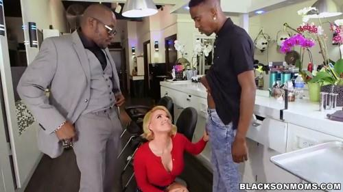 Bl4cks0nM0ms.com - Krissy Lynn - Hair Stylist Anal At Hair Studio (Group sex) [SD, 480p]