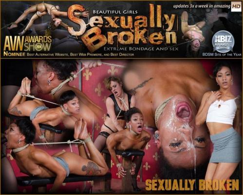 SexuallyBroken.com [Nikki Darling H0gT13d and Fucked by Couple With Massive Squirting Orgasms!] HD, 720p
