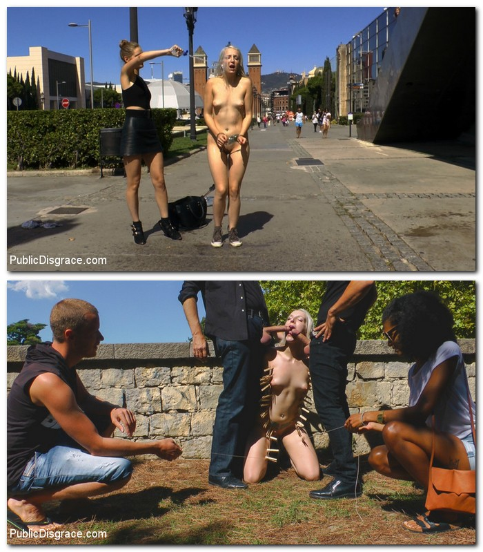 PublicDisgrace, Kink - Mona Wales, Liz Rainbow, Juan Lucho [The Humiliation of Liz Rainbow - Part 1 Fitness Domination] (SD 540p)