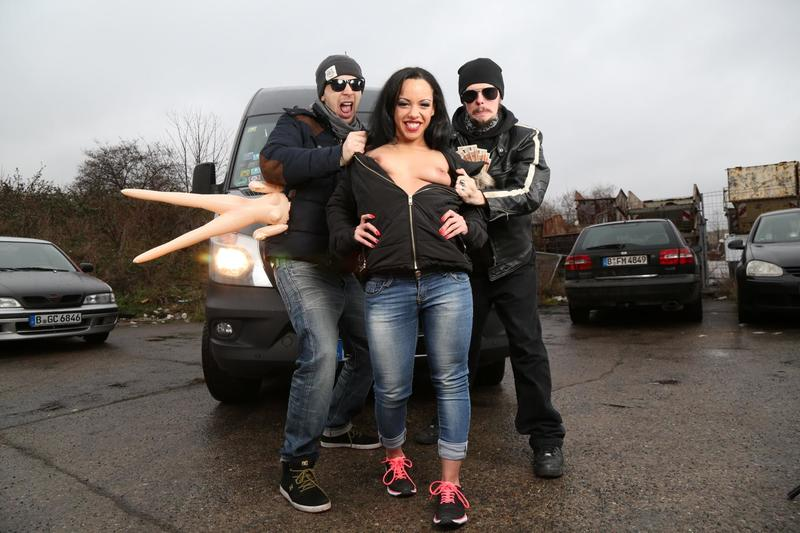 Porn Premium - Danny Bubbles - German brunette Danny Bubbles gets fucked on the backseat of bums-bus [SD 480p]