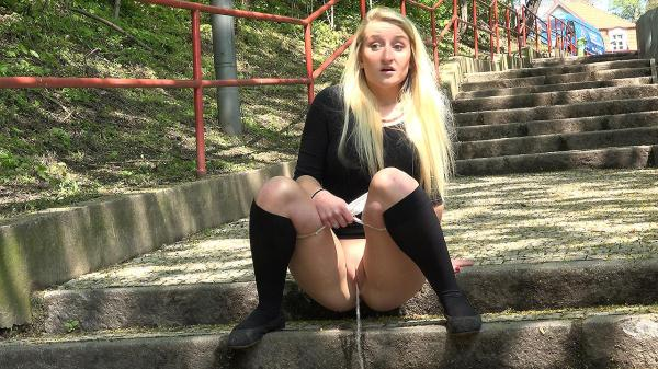 Blonde on steps (FullHD 1080p)