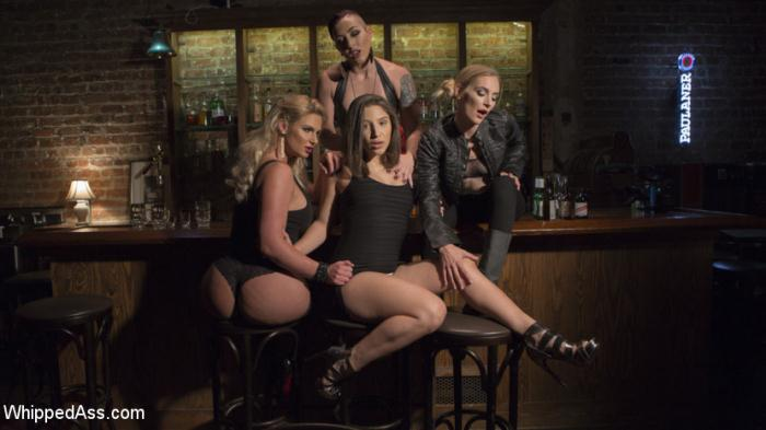 WhippedAss, Kink - Abella Danger, Mona Wales, Mistress Kara, Phoenix Marie [Dyke Bar 3: Abella Danger fisted, DP'd and dominated by wild lesbians!] (SD 540p)