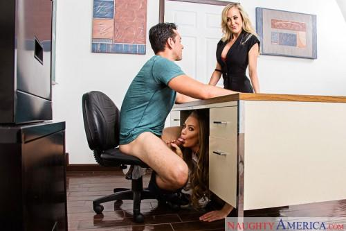 Brandi Love, Nicole Aniston (Threesome sex with Milf / 20.06.16) [NaughtyAmerica / SD]