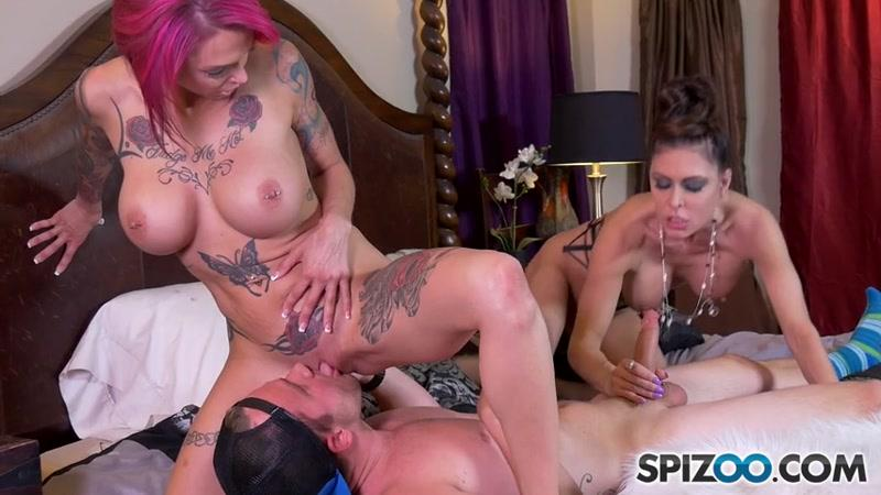 Anna Bell Peaks, Jessica Jaymes - Group sex with two crazy girls (03.06.2016) [Spizoo / SD]