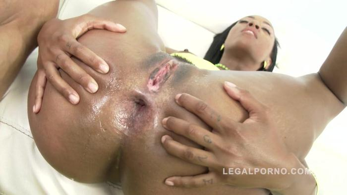 LegalPorno.com - Noemilk first anal: ebony slut rides big cock SZ1371 (Interracial) [SD, 480p]