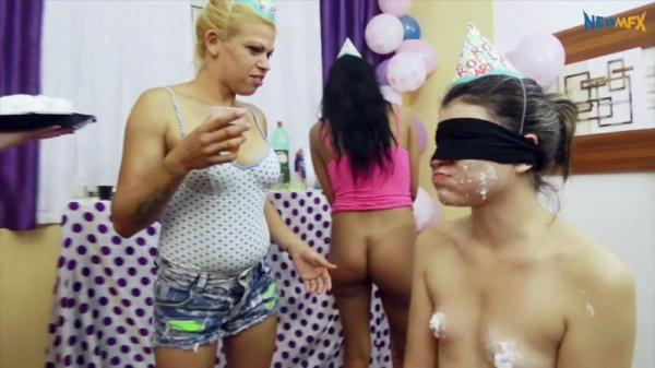 Surprise birthday party - Lezdom (FullHD 1080p)