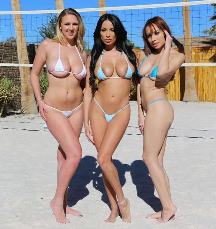Lubed: Adessa Winters, Anissa Kate, Brooke Wylde - Spring Break Oil Orgy  [HD 720p]  (Threesome)