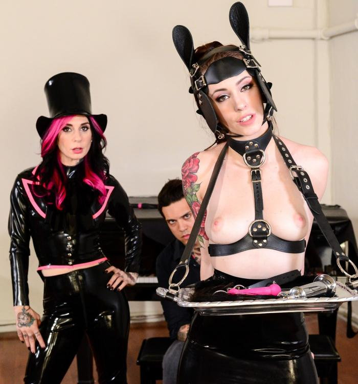BurningAngel: Joanna Angel, Anna de Ville - Anna de Ville - Equestrian Tamed  [HD 720p]  (Threesome)