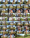 ClubDom: Jean Bardot, Lydia Supremacy, Lynn Pops - Field Whipping  [FullHD 1080p]  (Femdom)