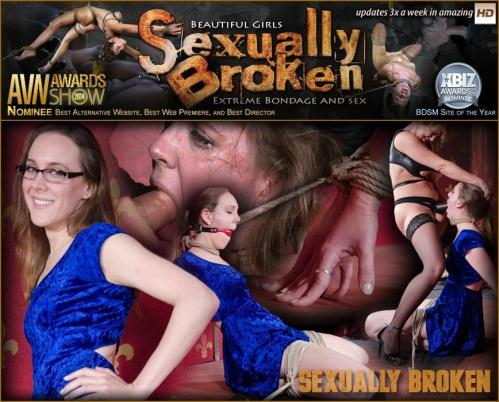 SexuallyBroken.com [Sensation Slut Sierra Cirque bound on her knees and brutally face fucked!] HD, 720p