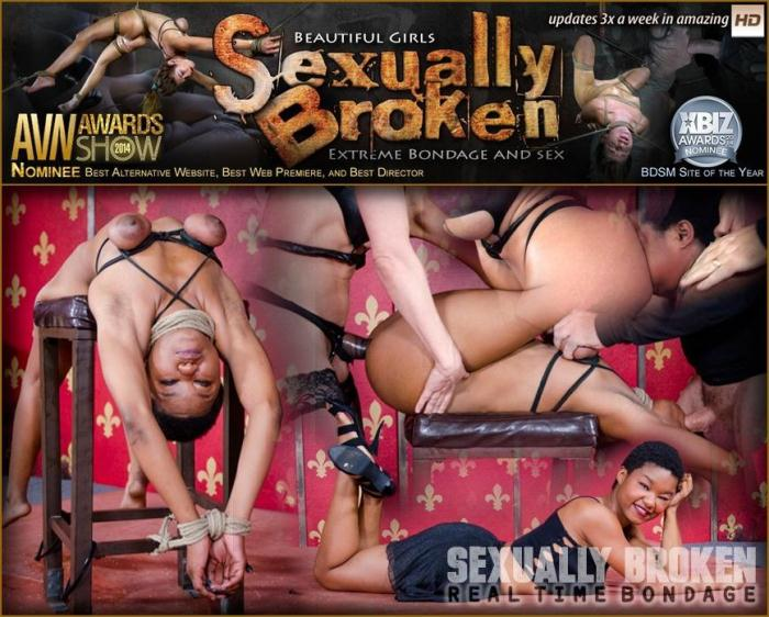 SexuallyBroken.com - Kahlista Rope Bound, Smothered and Fucked From Both Ends For Live BaRS Show! (BDSM) [HD, 720p]