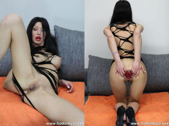 Hotkinkyjo.xxx - Hot kinky jo - Self fisting in string dress (Fisting) [HD, 720p]