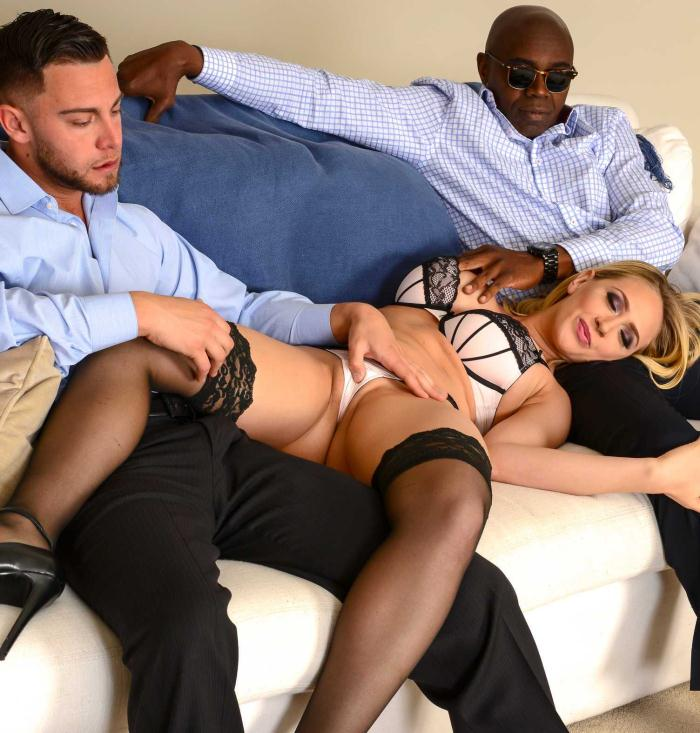 Naughtyamerica: Kagney Linn Karter - Big Fake Tits  [HD 720p]  (Double Penetration)