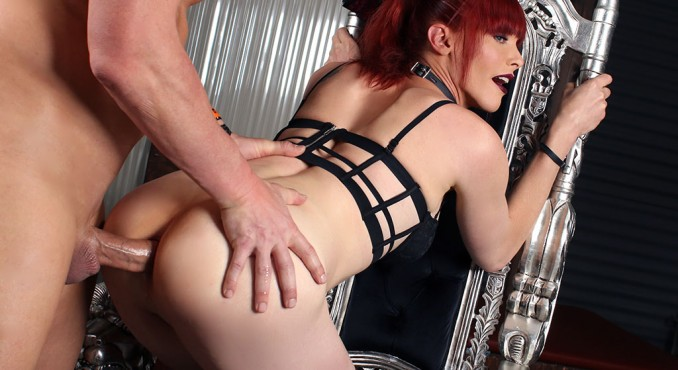 Staci Miguire - dominatrix Staci wants to be fucked hard after a session [SD 480p] Pure-TS.com