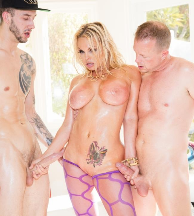 JulesJordan: Jesse Jane - Jesse Gets Oiled Down and Torn Up By Jules Jordan and Chris Strokes  [HD 720p]  (Double Penetration)