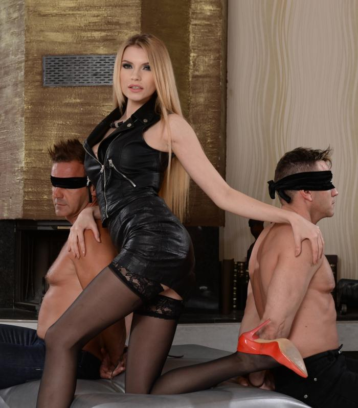 Karina Grand, Victor, Csoky Ice  - Blindfolded To Fuck Karina  [DP Porn/HD]
