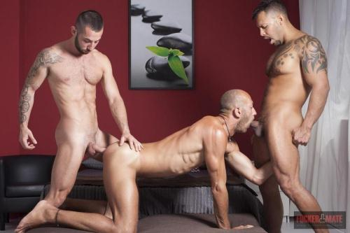 FuckerMate.com [Viktor Rom, Alejandro Torres and Dominic Arrow - Interracial threesome] HD, 720p