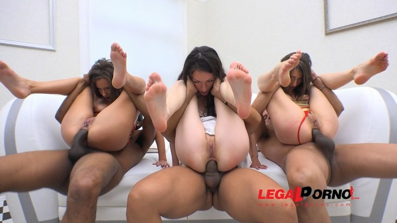 LegalPorno - Arwen Gold, Maria Devine, Nina Heaven - Arwen Gold, Maria Devine And Nina Heaven double anal orgy with 3 guys SOS146 [2016 HD]