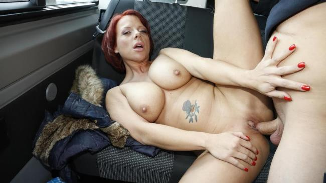 Bus Porn: Jolyne - This tattooed German redhead is down for a blowjob and a titjob in the car (HD/2016)