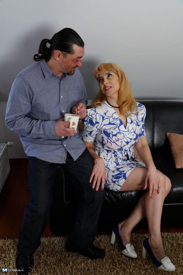 Olga C. (54) Horny housewife fucking and sucking [Mature.nl 720p]