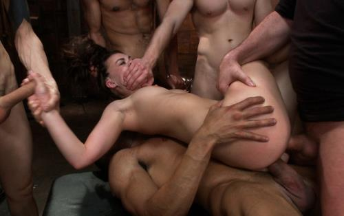 Tiffany Doll - Gorgeous French Girl Taken Down in Rough Gangbang (2012/HD)