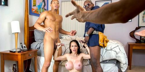 Bl4cks0nM0ms.com [Mckenzie Lee - Lonely Housewife Gets Stuffed With 2 Monster Cocks] SD, 480p