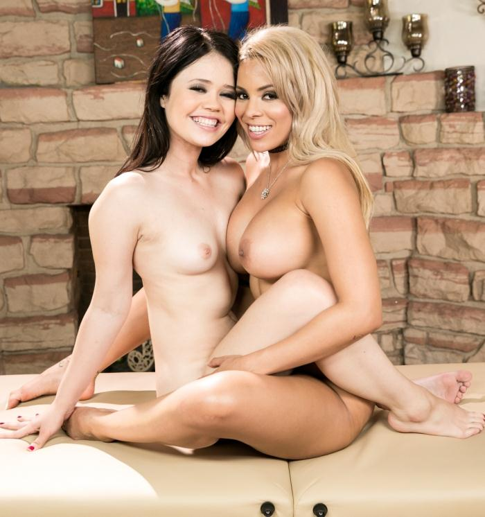 Lesbians Massage - Luna Star, Yhivi - Well Oiled Friends: Part One  [HD 720p]