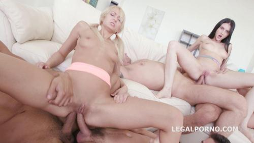 LegalPorno.com [4ON2 DAP&GAPES. Crystal Greenvelle & Lola Shine SKINNY DAP GAPES ATM Cumswapping GIO200] SD, 480p