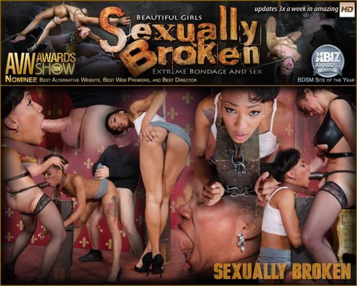 SexuallyBroken.com - Athletic, Slender Slut Fucked From Both Ends in High Heels and Made to Cum Multiple Times! (BDSM) [HD, 720p]