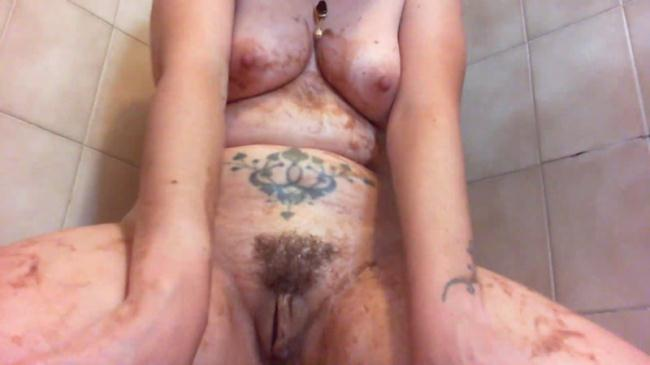 Diarrhea in the shower - Extreme Solo (Scat Porn) FullHD 1080p