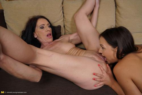 Viana (49), Hailey (18) - Horny old and young lesbian couple fooling around (Old-and-young-lesbians) [HD 720p]