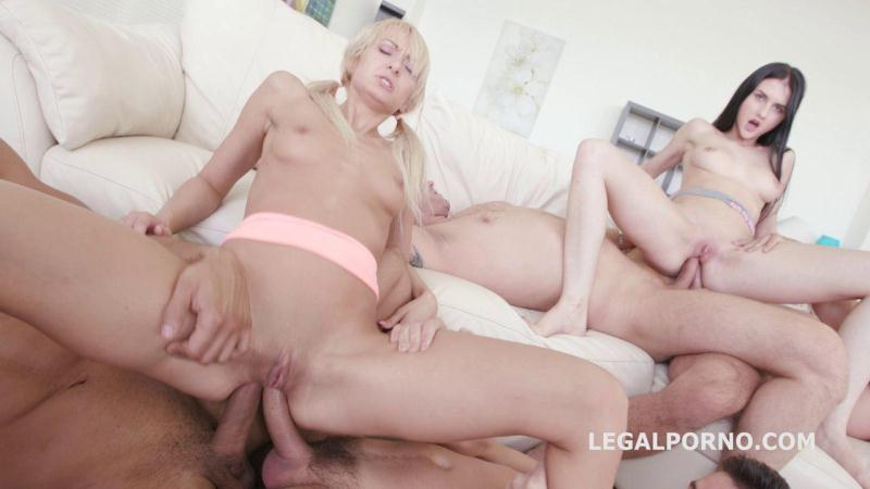 LegalPorno.com: 4ON2 DAP&GAPES. Crystal Greenvelle & Lola Shine SKINNY DAP GAPES ATM Cumswapping GIO200 [SD] (949 MB)