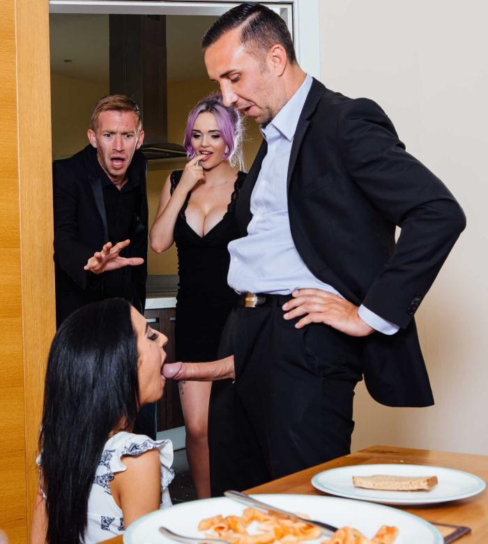 Brazzers: Jasmine James, Skyler Mckay - The Dinner Invitation  [SD 480p]  (Threesome)