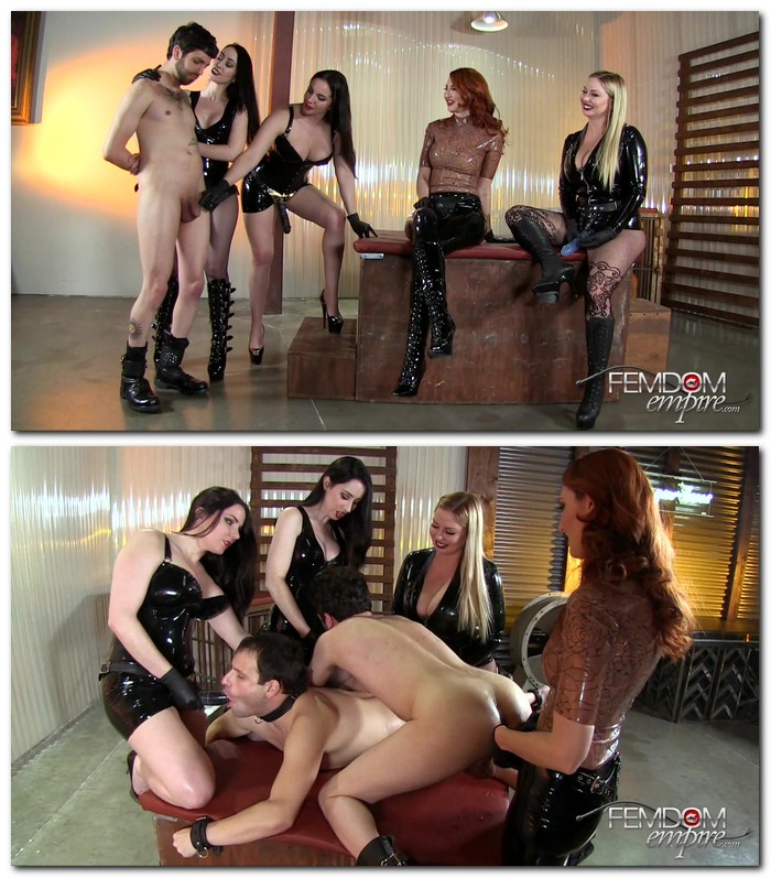 FemdomEmpire - Alexandra Snow, Kendra James, Lexi Sindel, Mina Thorne [Strap-on Gang Bang 16] (FullHD 1080p)