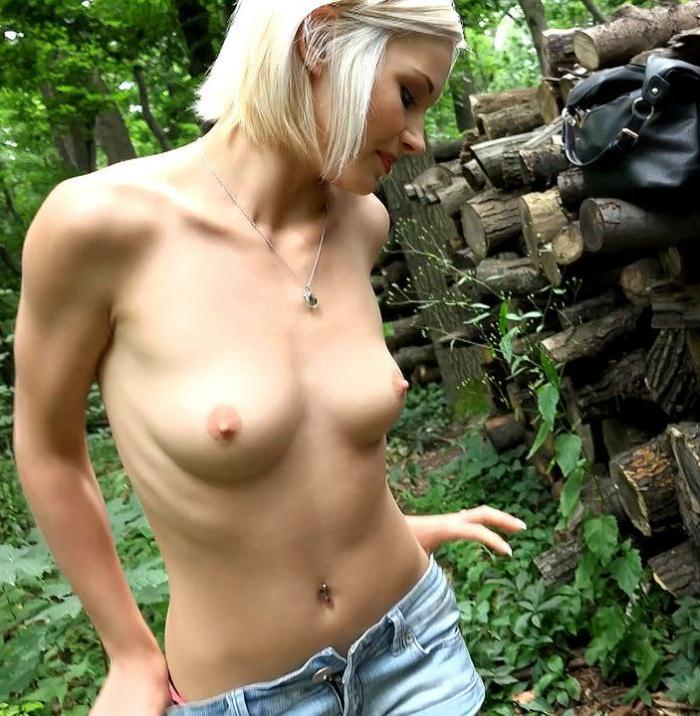Public Porn - Zazie Skymm - Euro Babe Fucked in the Woods  [HD 720p]
