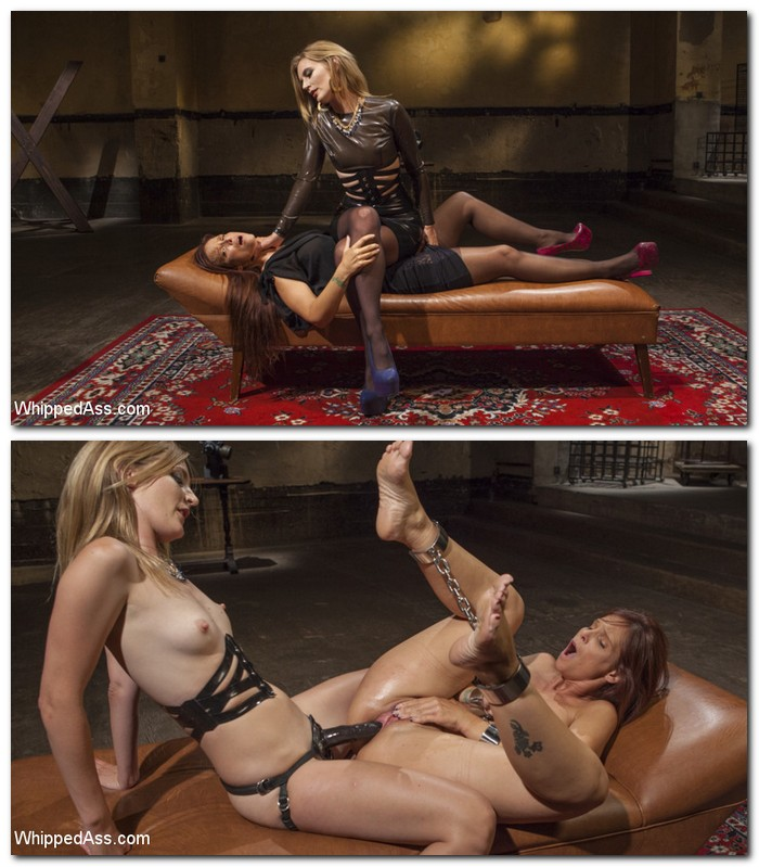 WhippedAss/Kink: Syren de Mer, Mona Wales - Pervert Therapy: Horny MILF bound, fisted and anally strap-on fucked!  [SD 540p]  (Femdom)