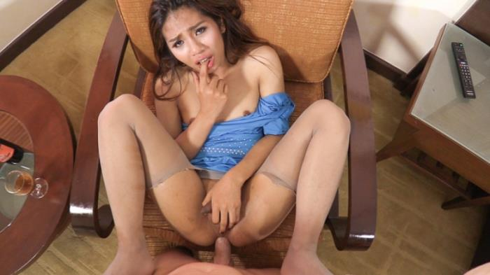 LadyboyGold.com - Aris - Hot Miniskirt Big Dick Ride [HD 720p]