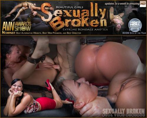 SexuallyBroken.com/RealTimeBondage.com [London River Can\'t Stop Cumming When Bound with Rough Anal Sex!] HD, 720p