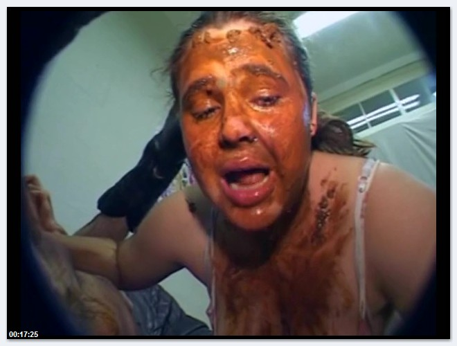 Scat Video - Amateur - Fat Teen Rubs Her Face On A Shitty Asshole [SD 480p]