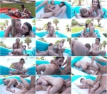Scarlett Sage & Kristen Scott - Slip And Slide Threesome (29.07.2016) [Lubed / SD]