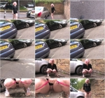 Mish Mayfair - Young girl pissing near the car (HD 720p)