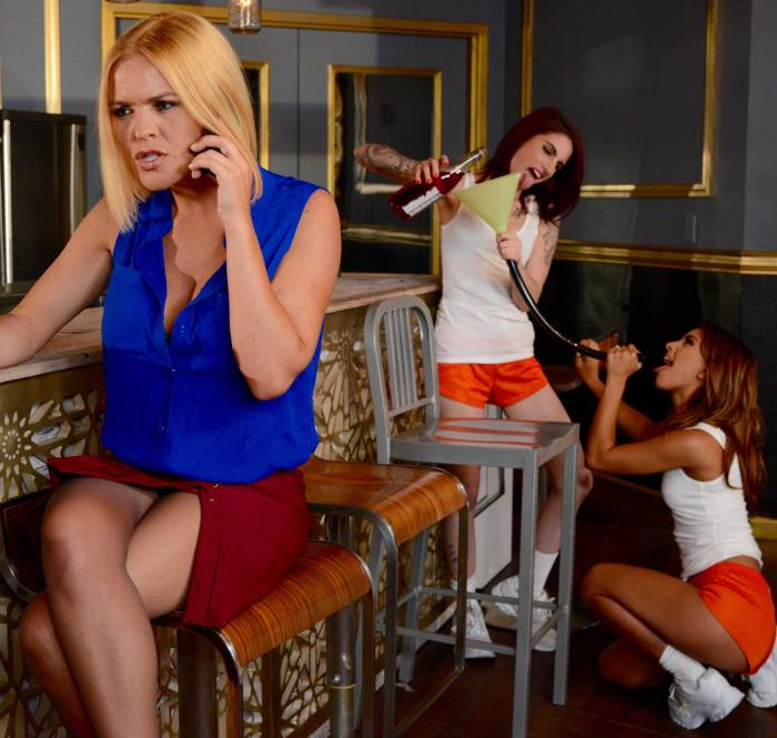 HotAndMean/BraZZers: Krissy Lynn, Sheena Rose, Uma Jolie - Outing The Outed  [HD 720p]  (Lesbians)