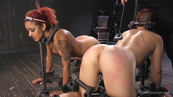Two Sluts Suffer in Grueling Bondage with Squirting Orgasms (D3v1c3B0nd4g3, Kink) HD 720p