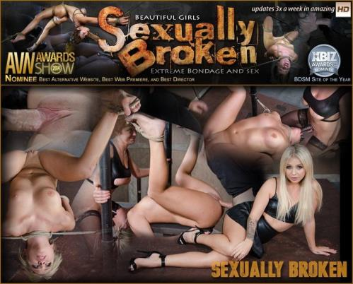 SexuallyBroken.com [Super Hot Madelyn Monroe Tied With Legs Spread Wide and Tag Teamed By Couple!] HD, 720p