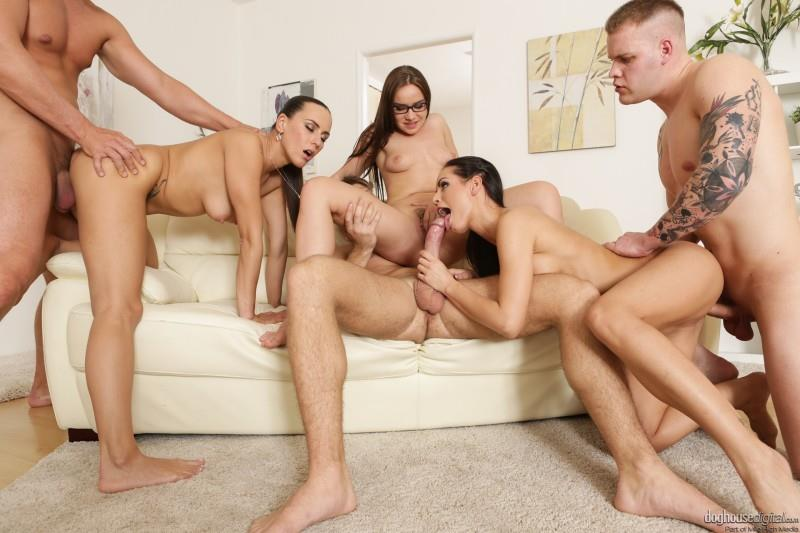 Kari, Mea Melone, Wendy Moon - Swingers Orgy [DoghouseDigital / SD]
