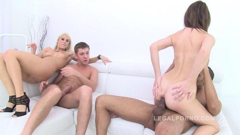 Timea Bella & Blanche Bradburry double anal pounding SZ635 [LegalPorno / SD]
